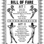 TIVOLI Bill of Fare